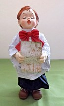 "Kurt Adler Choir Boy Musical Christmas Table Piece Fabric Mache 7.25"" VGC - $15.83"