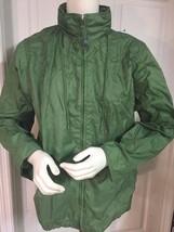 LAND'S END Women's RAIN Wind JACKET Size M 10-12 Green 100% Nylon w/HOOD... - $36.89