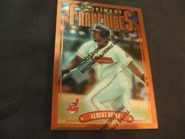 1996 Topps Finest #214 Albert Belle w/peel Cleveland Indians - $3.12