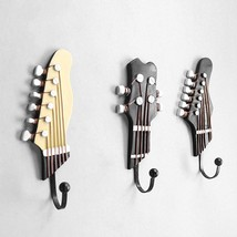 3pcs/set Multi-purpose Retro Style Guitar Heads Home Hooks Resin-made Cl... - $29.97