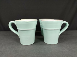 "SET(S) OF 4 - CRATE & BARREL COMO 4-1/4"" MUGS - PRISTINE CONDITION - $78.40"