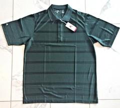 "NWT Mens Large Antigua ""Illusion"" Desert Dry Wicking Golf Polo Shirt Green - $10.99"