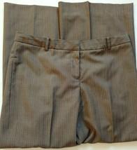 Anne Klein Dress Suit Pants Size 10 Petite Womens Brown Tan Flare Patter... - $21.15