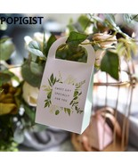 POPIGIST® 50pcs/Lot European Style Sweet Candy Bag Green Leaves Candy Bo... - $28.98