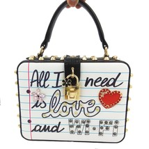 """Boutique De FGG """"All I Need is LOVE and WIFI"""" Fashion Women Shoulder Bag... - $72.43"""