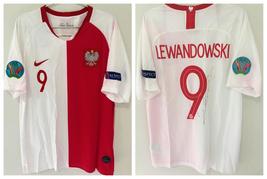Jersey / Shirt Poland 2019 Autographed by Lewandowski 9 - Centenary - Nike - $1,000.00