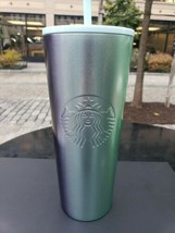 Starbucks Christmas 2020 Stainless Steel 24 Tumbler Gradient Purple Aqua... - $49.99
