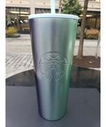 Starbucks Christmas 2020 Stainless Steel 24 Tumbler Gradient Purple Aqua... - $49.99