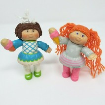2 VINTAGE 1983 BABY CABBAGE PATCH KIDS GIRLS POSEABLE PVC ACTION FIGURE ... - $24.42