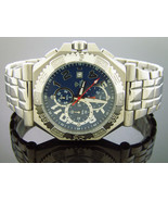 New Men's Aqua Master watch Warfair 0.12 CT Diamonds blue color face - $148.49
