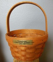 "Vintage Longaberger Basket Discovery 5 x 8"" with all Paperwork - $15.00"