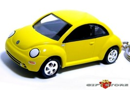 RARE!! KEY CHAIN RING YELLOW VW NEW BEETLE VOLKSWAGEN BUG VOLKSWAGON LTD... - $38.98