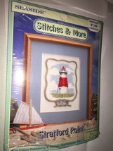 Seaside Stitches & More STRATFORD POINT  Lighthouse Counted Cross Stitch... - $6.50
