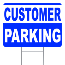 "Customer Parking (B/W) 24"" x 18"" Double Sided Road Yard Sign: Heavy Duty... - $35.00"