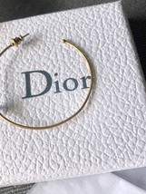 SALE* AUTHENTIC Christian Dior 2019 J'ADIOR Star Hoop Earrings Aged Gold image 4