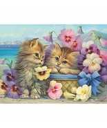 Bits and Pieces FRIENDS FOREVER 1000 Piece Jigsaw Puzzle Kittens Cats - - $18.81