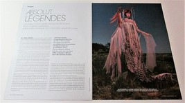 ABSOLUT LEGENDES Jean-Paul Gaultier Vodka Magazine Ad/Article 9 PAGES 8 ... - $9.99