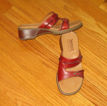 Timberland Sandals Size 6 Slides Womens Smart Comfort System Brown Leather - $19.79