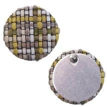 Yellow Woven Knit Stud Earrings - $11.99