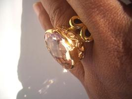 BIG 29X20 AMAZING FINE PINK KUNZITE FILIGREE RING avalb - $39.00