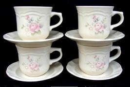 4~Pfaltzgraff TEA ROSE Cups & Saucers~Excellent - $22.00