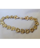 "Sterling Silver 925  Hibiscus Flower Tennis Link Bracelet 8""L made in Tu... - $64.35"