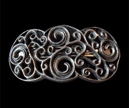 Pewter Large 4 Spiral Celtic Scroll Hair Clip Stylized design AVH-10 - $24.99