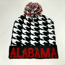 Alabama Adult Beanie Hat One Size Houndstooth Multicolor Acrylic  - $8.41