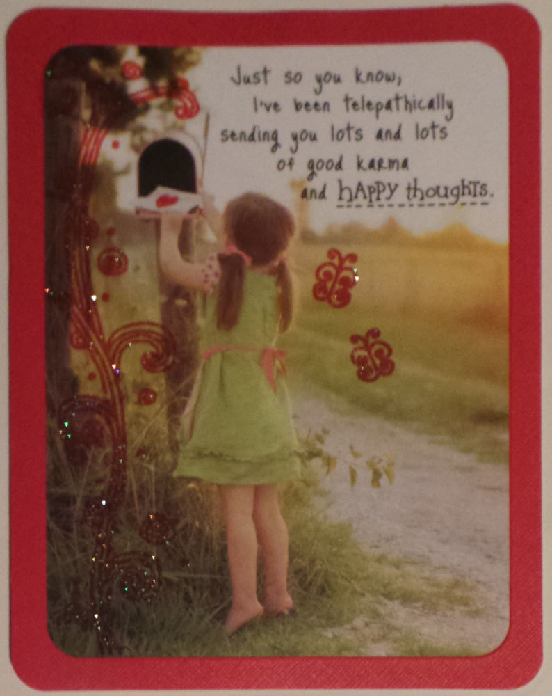Greeting Card Friendship Taylor Swift Just so you know,I've been telepathically