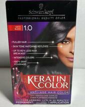 Schwarzkopf Keratin Color Anti-Age Hair Color Cream 1.0 Onyx Black 1 Box - $22.14