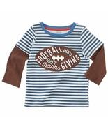 NWT Mud Pie Thanksgiving Football Applique Boys Long Sleeve Shirt  - $12.99
