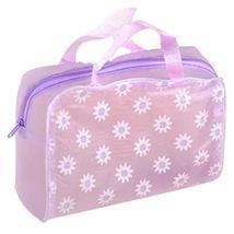 8 Pcs Floral Purple Transparent Waterproof Travel Pouch Cosmetic Bag