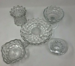 Authentic Fostoria Clear Cubist Lot of 5 Assorted Plates & Dishes (FOSCC) - $19.28