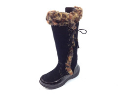 Sporto Waterproof Suede Tall Boot Side Winder Tassel Lace Up Black Leopard 7 M - €27,74 EUR