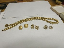 Costume Jewelry , Monet Necklace Plus 3 Pair Mixed Lot Earrings , Vintage - $50.00