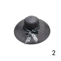 2019 Women Sunscreen Beach Hat Elegant Lady Derby Cap Anti-UV Wide Brim Floppy F image 2