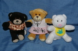 3 McDonalds Build A Bear Happy Meal Teddy Bears 2006 (C) - $8.99