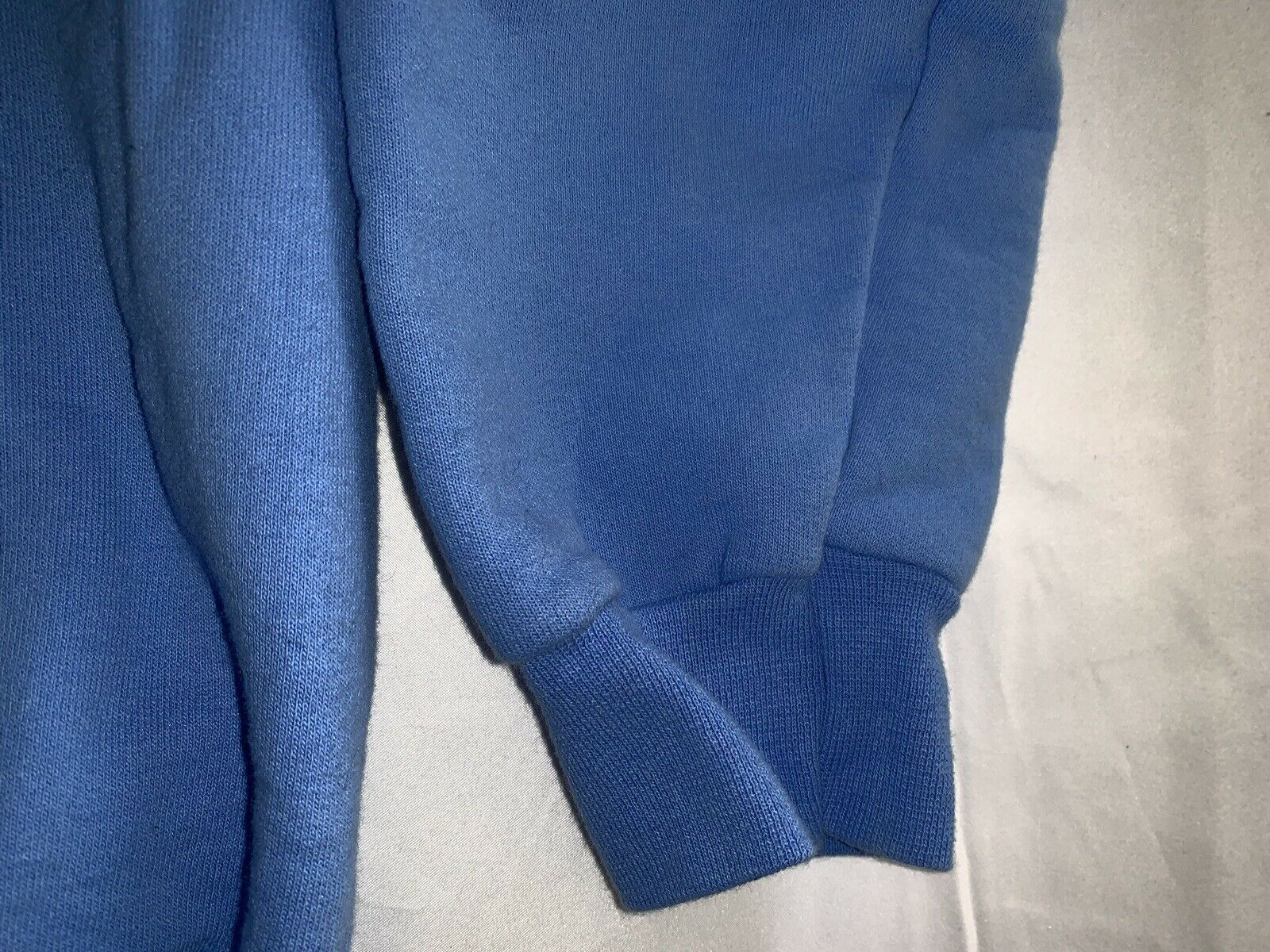 Hanes Ultimate Cotton Crewneck PrintPro Sweatshirt Size M Blue Blank