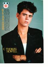 C Thomas Howell Lea Thompson teen magazine pinup clipping nice legs