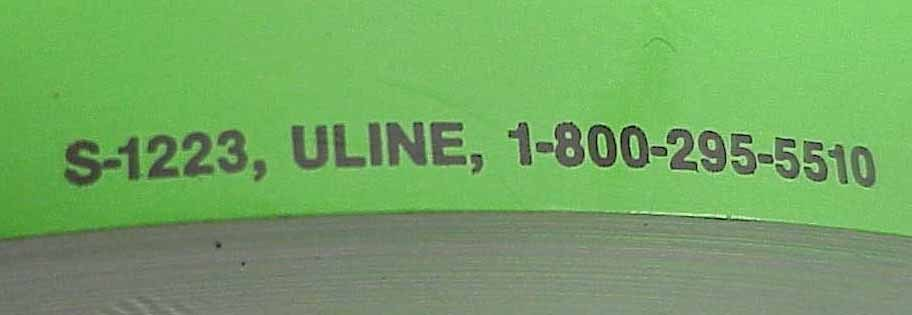 500, 3X5 DO NOT DOUBLE STACK Green Fluorescent Labels