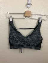 Victoria's Secret Vsx Sport Strappy Sports Bra Black White  S Small - $16.89