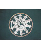 Crochet Window Hanging/Suncatcher on Brass Ring... - $11.50