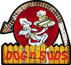 Dog n Suds Diner Restaurant Plasma Cut Metal Sign - $59.95