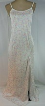 Vintage LONG nightgown MEDIUM White Floral Petra Fashions So PRETTY UNWORN - $25.65
