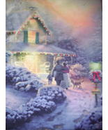THOMAS KINKADE GARDEN FLAGS W/STAND - $25.00