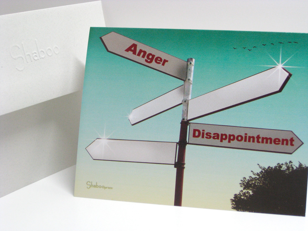 Unique Inspirational Encouragement Card With Sign Post: Directional Feelings