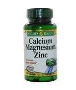 Nature's Bounty, Calcium Magnesium Zinc, 100 Caplets -Promotes Bone Health - $16.56