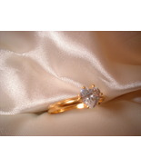 Crystal Heart Ring Size 9 Bargain Bin Under $10.00 - $5.99