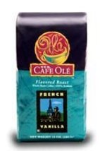 HEB Cafe Ole Whole Bean Coffee 12oz Bag (Pack of 3) (French Vanilla - Medium Dar - $49.47