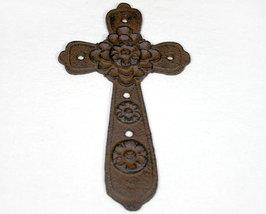 Brown Iron Cross with Rosette Design - $8.99